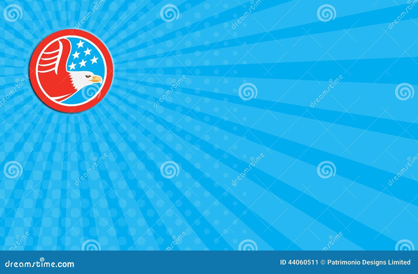 Download Carte De Visite Professionnelle Eagle Stars Circle Retro Chauve Americain Illustration Stock