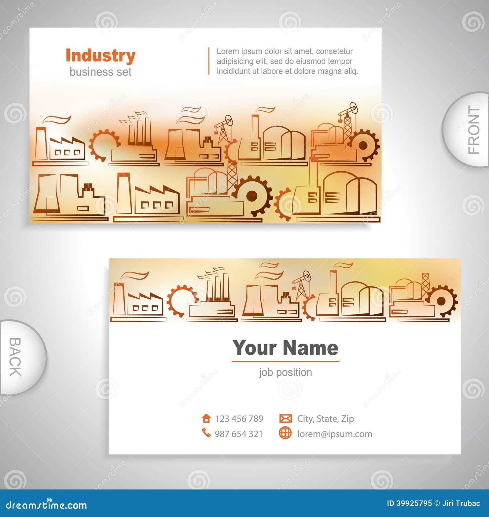Carte De Visite Professionnelle Industriel Orange Universelle