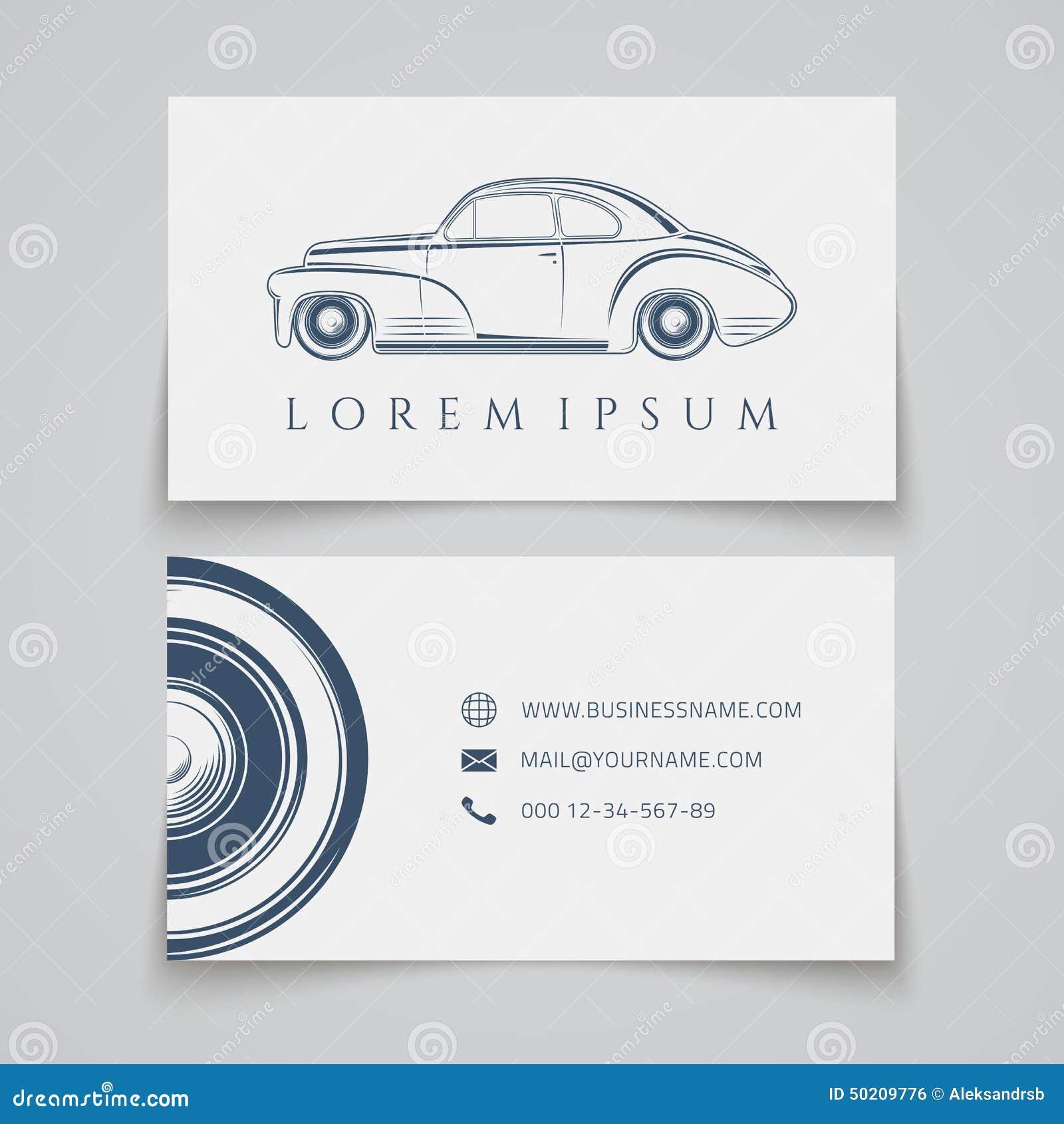 Carte De Visite Professionnelle Logo Classique Voiture