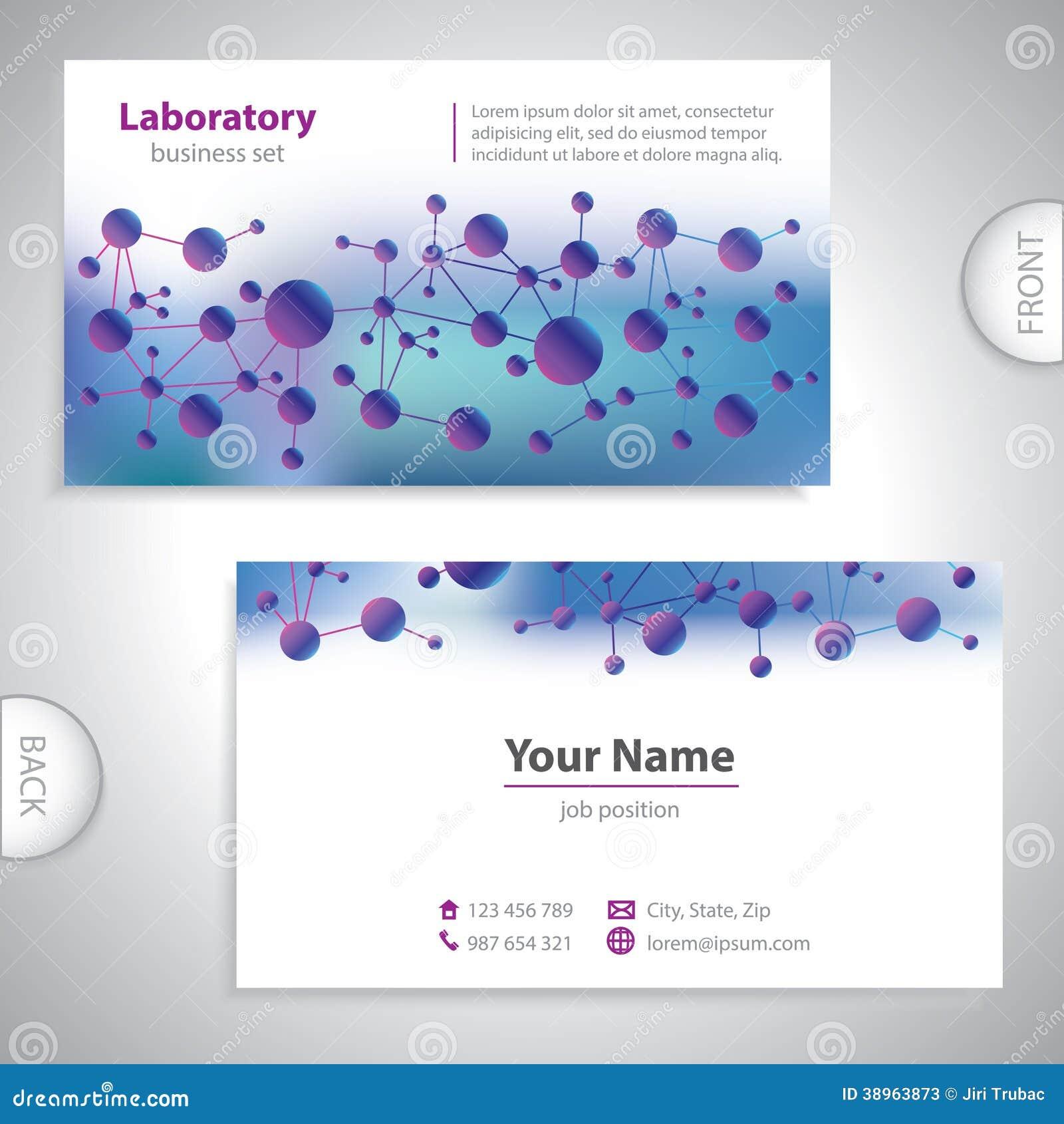 Carte De Visite Professionnelle Mdicale Violet Bleue Universelle