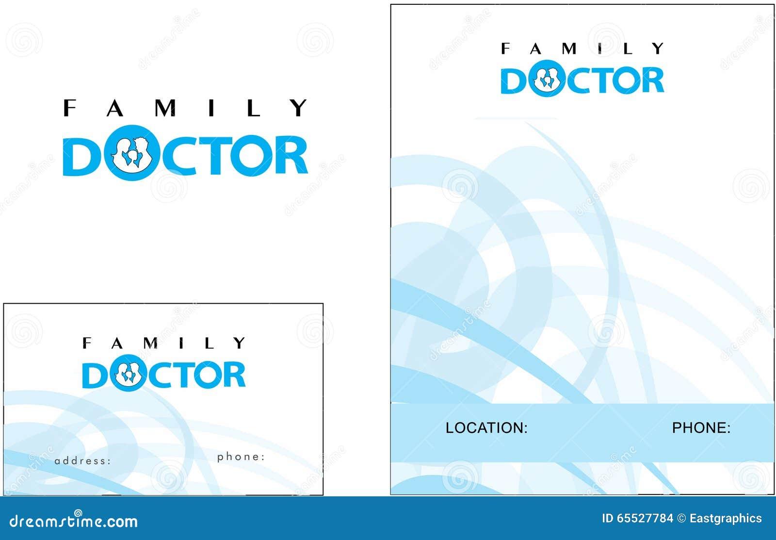 Carte De Visite Professionnelle Moderne Logo Mdecine Docteur