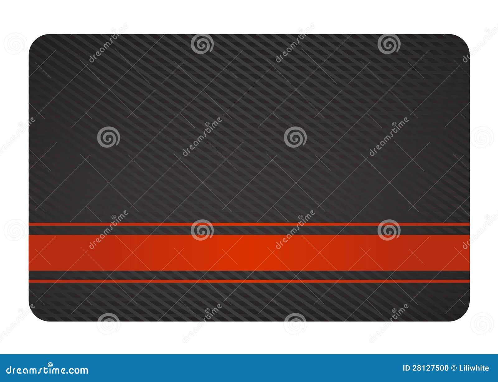 Carte De Visite Professionnelle Noire Avec La Texture Et L Etiquette Rouge