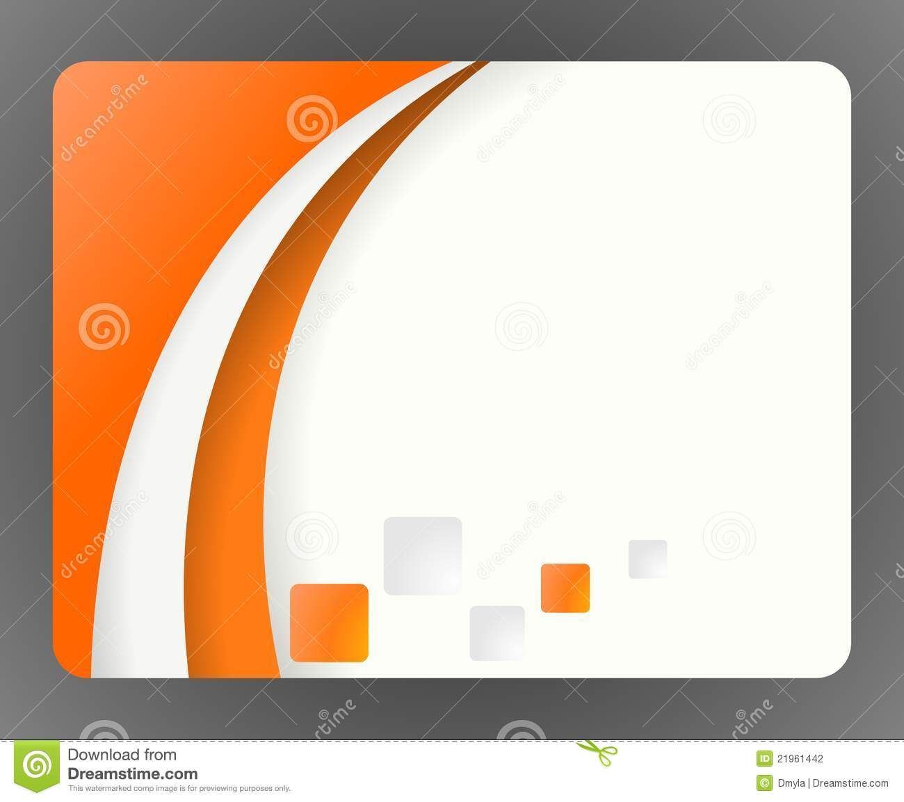 Carte De Visite Professionnelle Orange