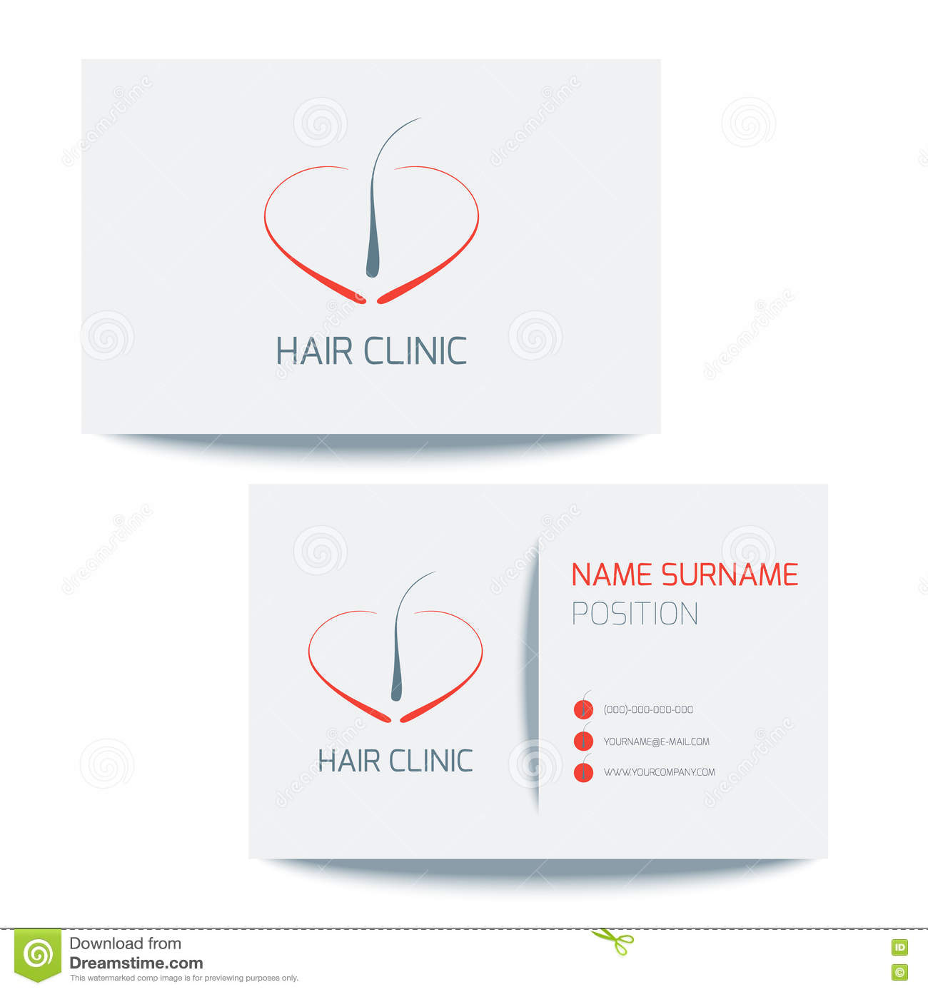 Calibre Medical De Logo Carte Visite Professionnelle Avec Licone Follicule Pileux Dirigez La Conception Graphique Dampoule Cheveux