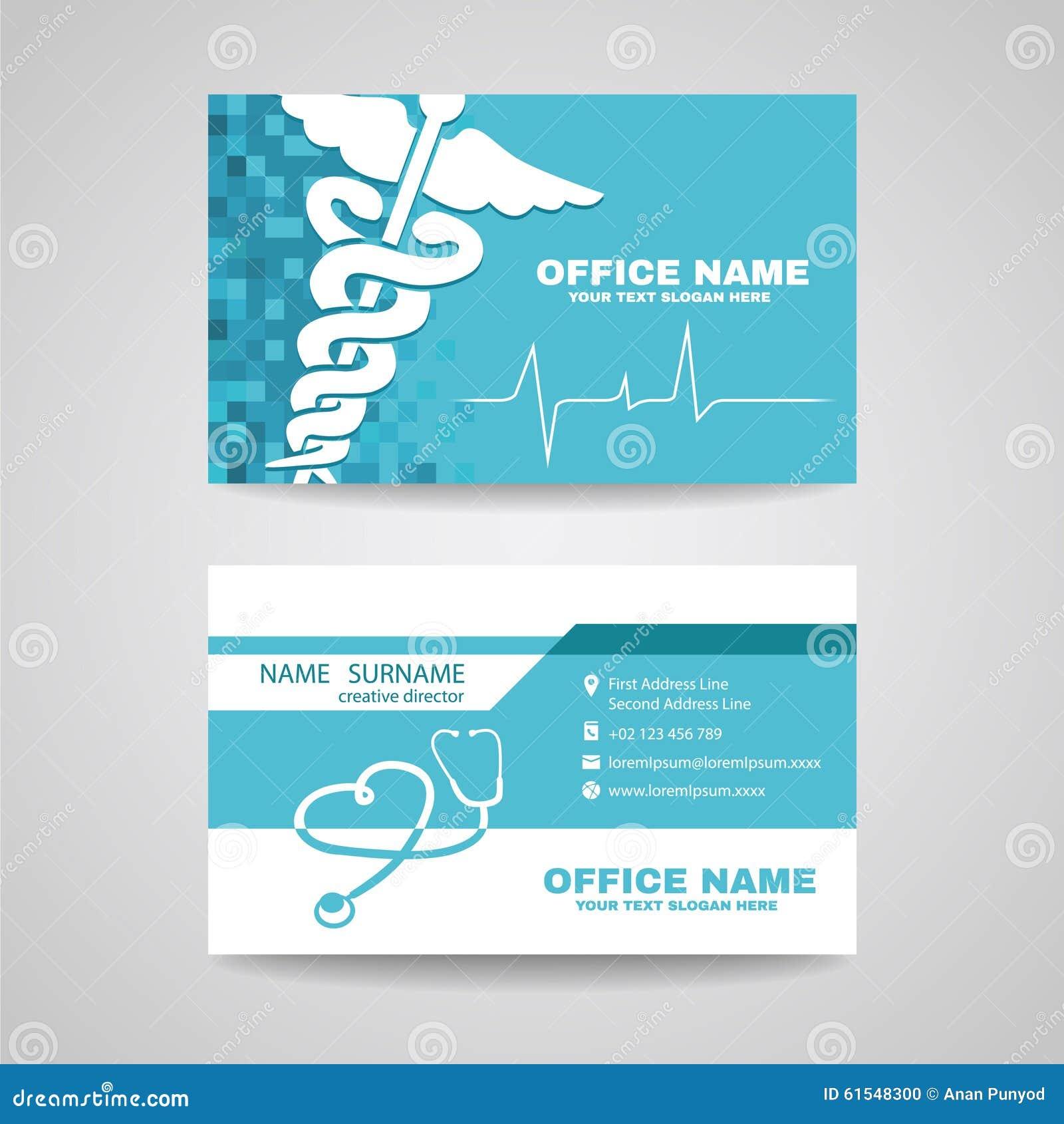 Carte De Visite Professionnelle Pour Des Soins Sante Medicaux