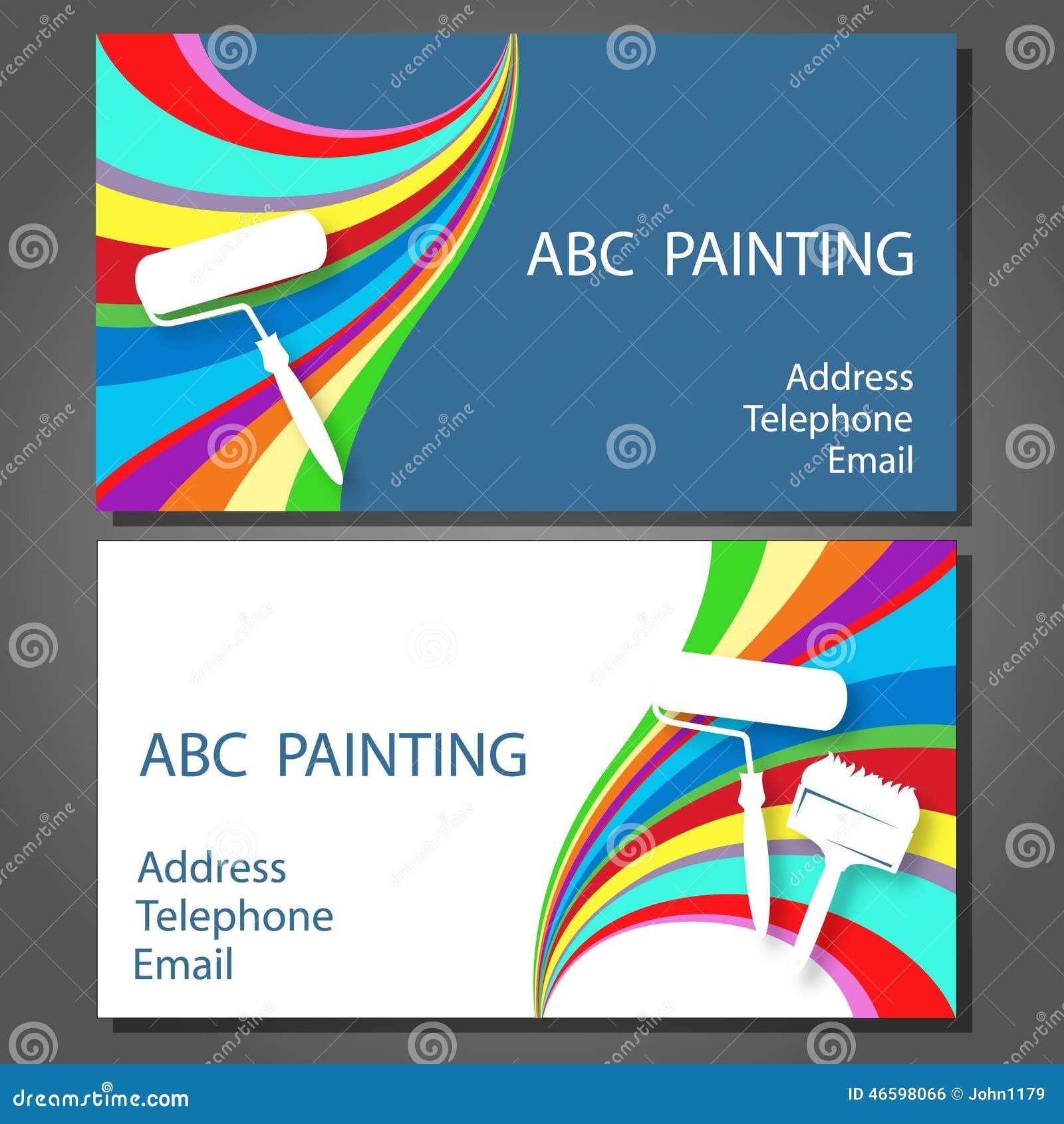 Carte De Visite Professionnelle Pour La Peinture