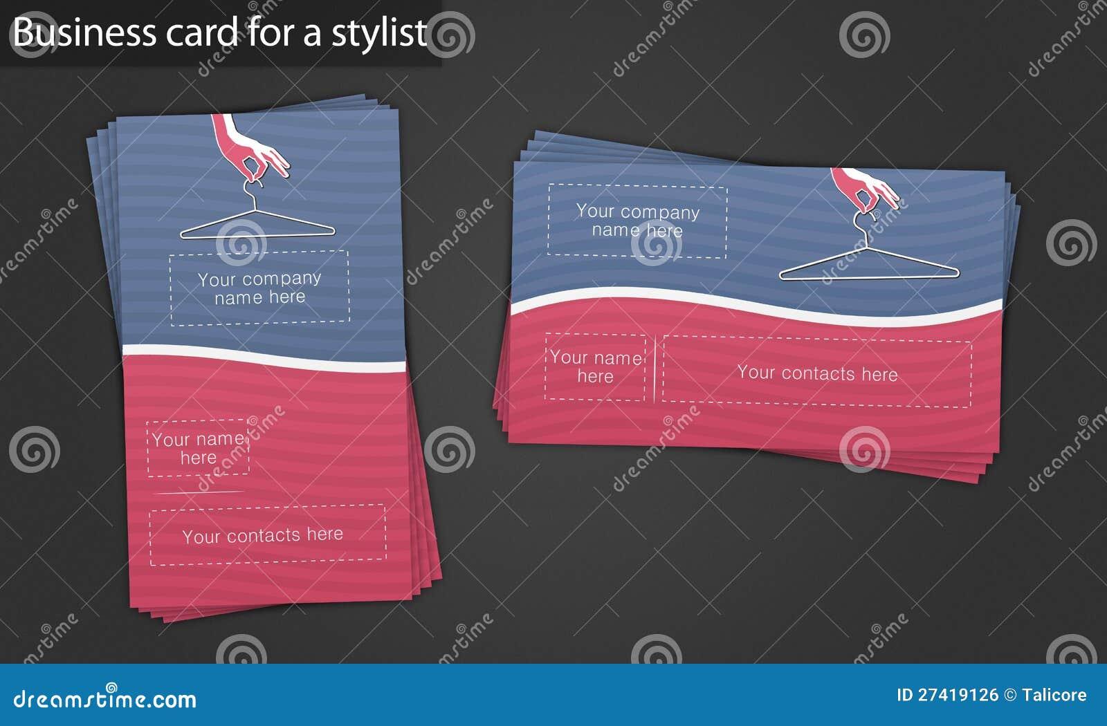 Carte De Visite Professionnelle Pour Un Styliste