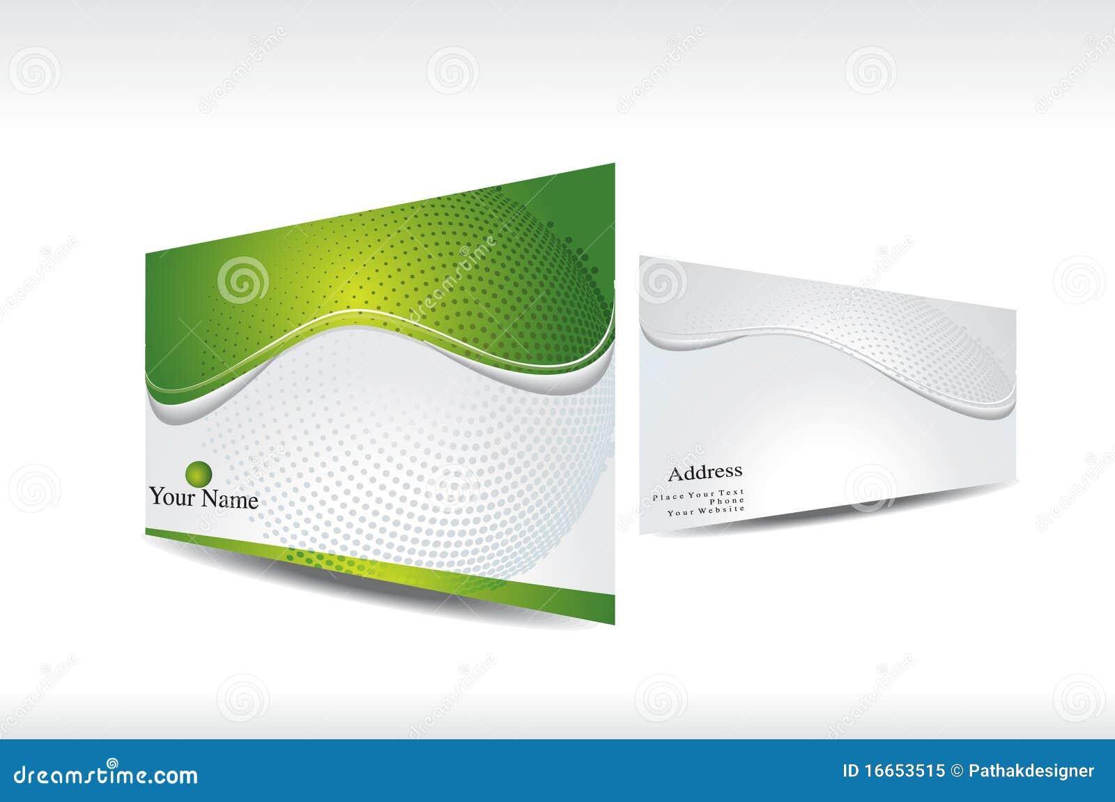 Carte De Visite Professionnelle Verte Abstraite Avec La Presentation 3d