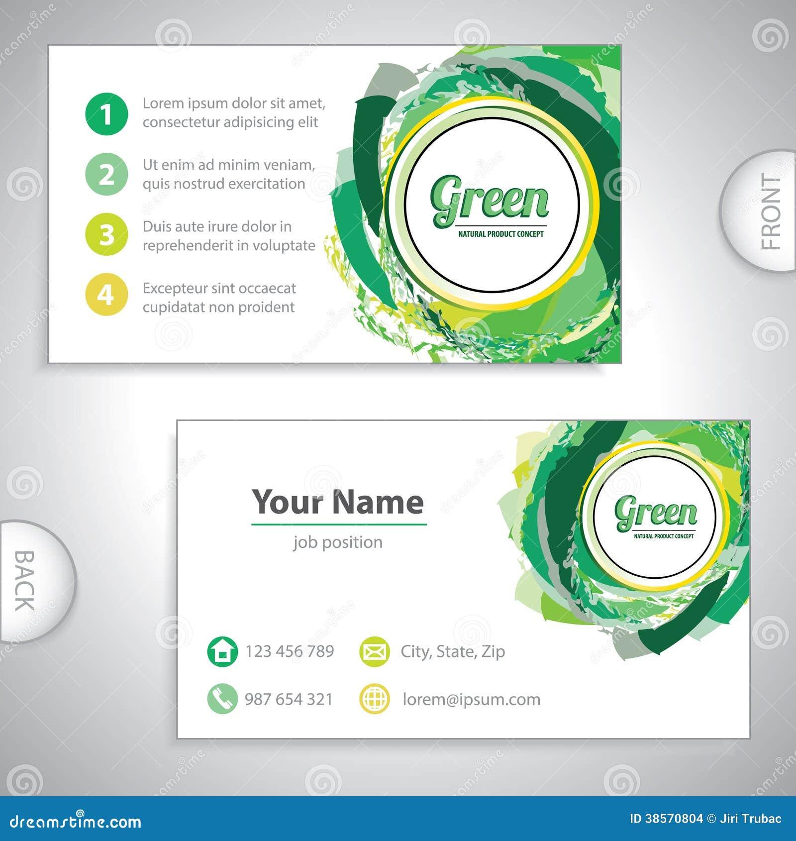 Carte De Visite Professionnelle Verte Universelle Tourbillon