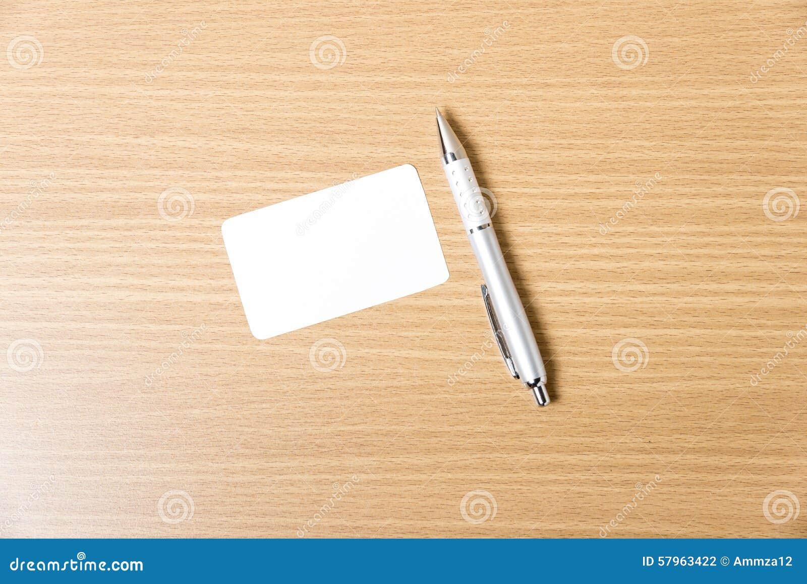 Download Carte De Visite Professionnelle Et Crayon Lecteur Photo Stock