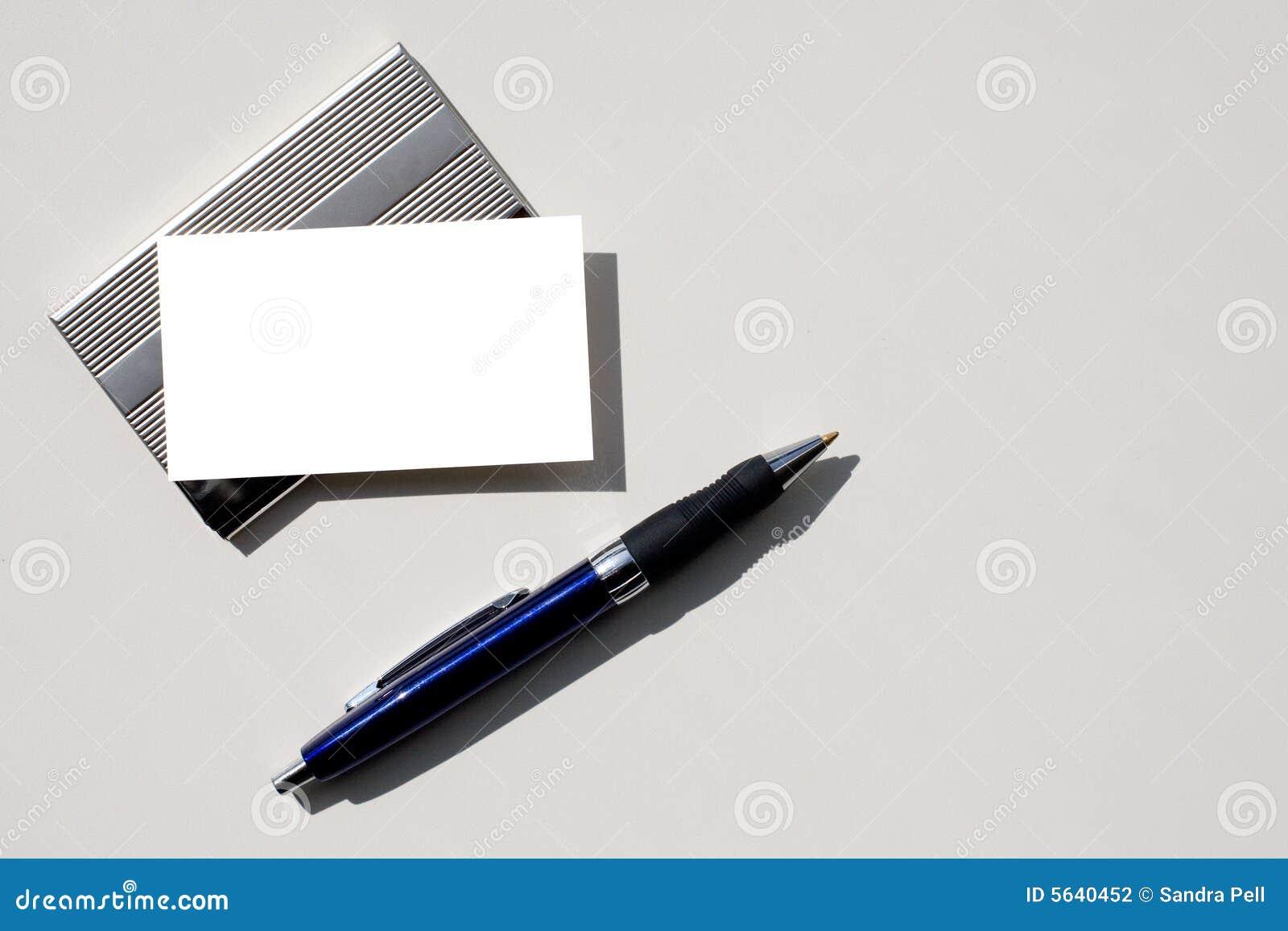 Download Carte De Visite Professionnelle Et Crayon Lecteur Blanc Avec Le Chemin Dcoupage