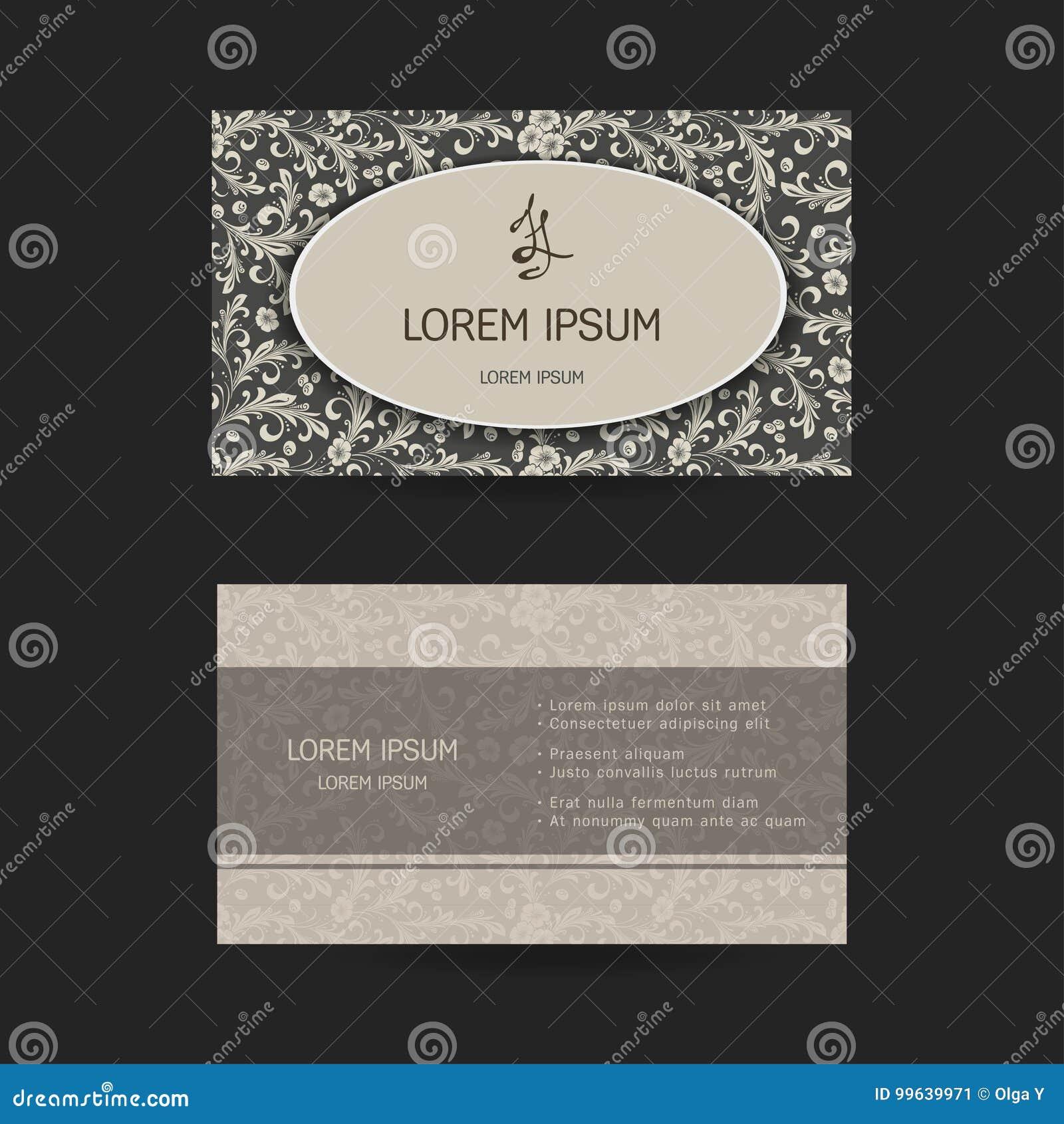 Carte De Visite Professionnelle Horizontale Modle Oriental Conform Aux Tailles Standard