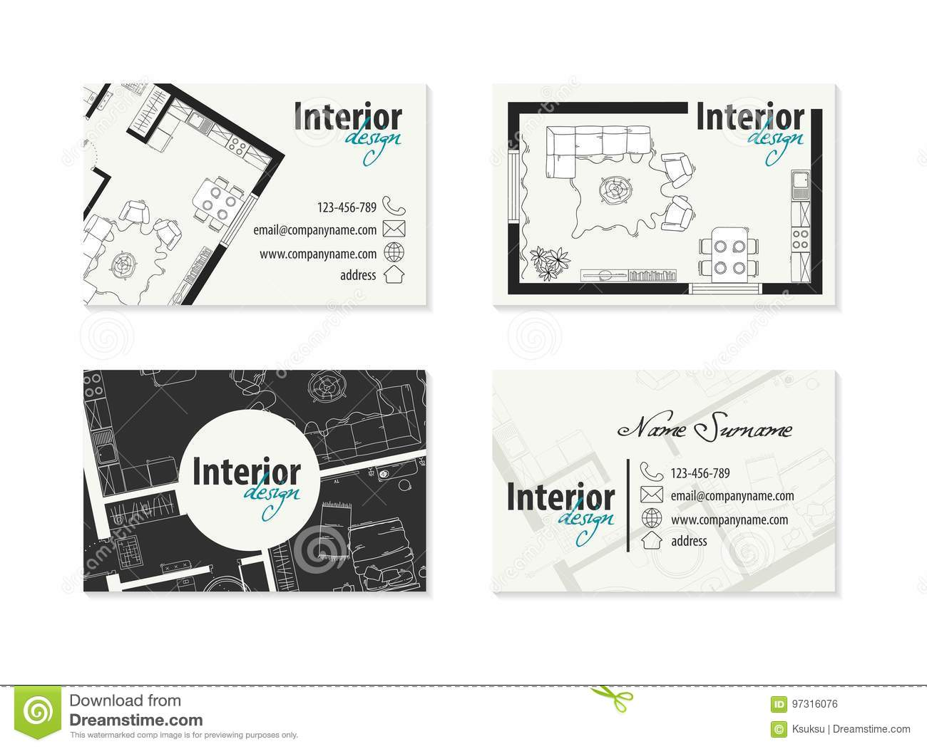 83  carte visite decorateur