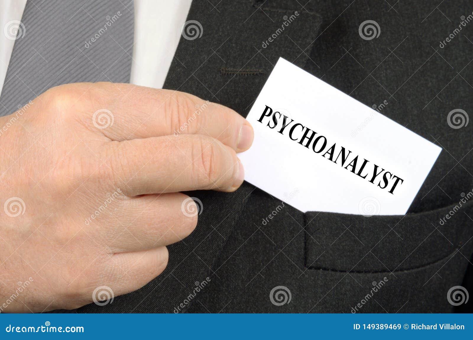 Carte de visite professionnelle de visite de psycho-analyste