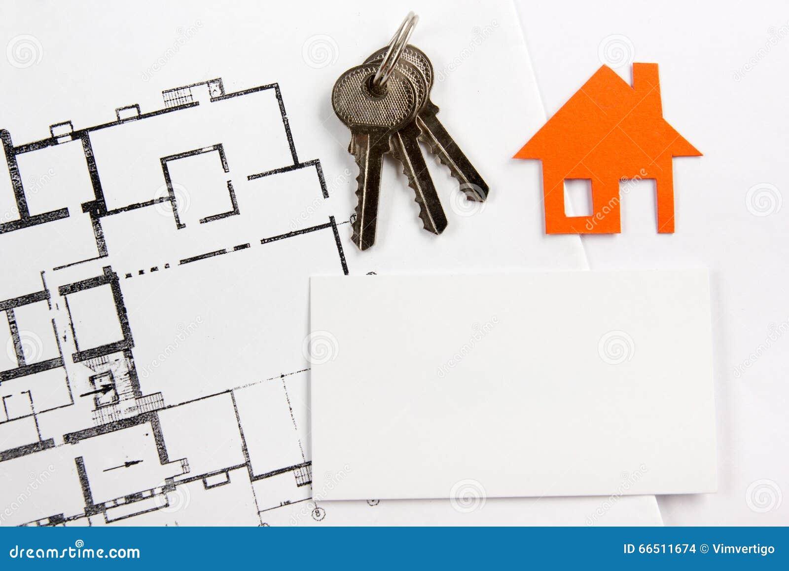 Carte De Visite Professionnelle Vierge Avec Le Chiffre Maison Concept 6 D Immeubles