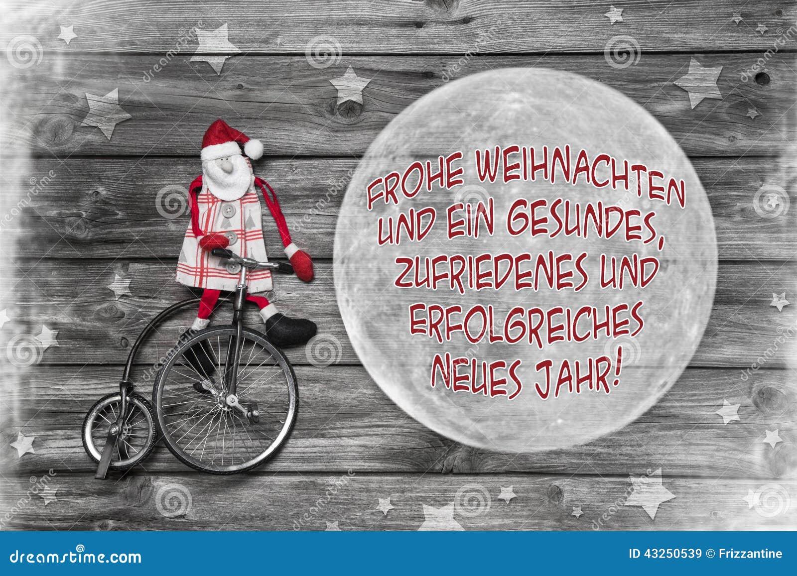 Carte De Voeux Allemande De Noël Avec Joyeux Noël Des Textes Et