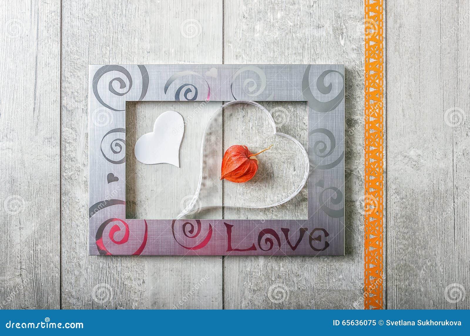Carte de voeux avec amour