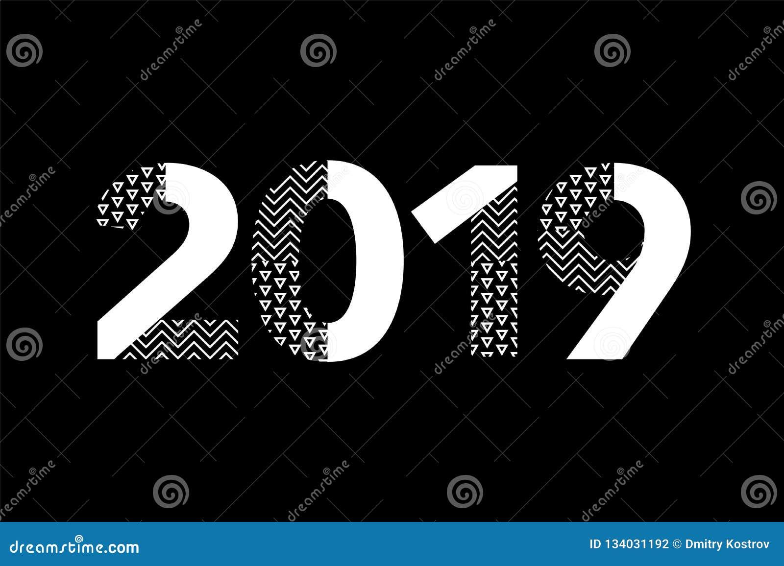 Carte de voeux avec la bonne année 2019 d inscription pour vos insectes de disposition et carte de voeux