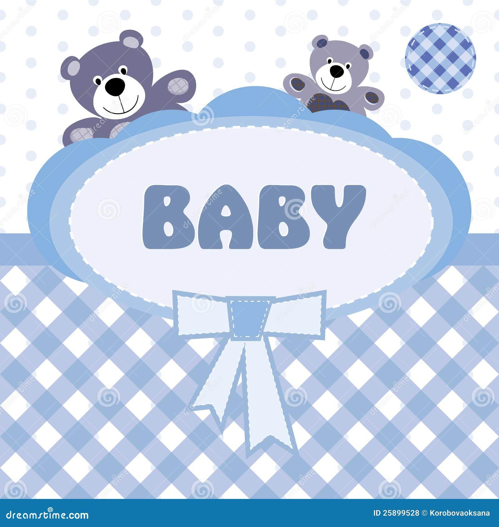 Extrêmement Carte De Voeux Avec La Naissance D'un Bébé Photos libres de droits  IR67
