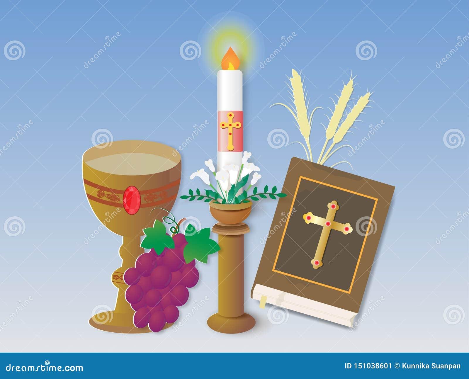 Carte de voeux avec le signe et le symbole chrétiens de religion