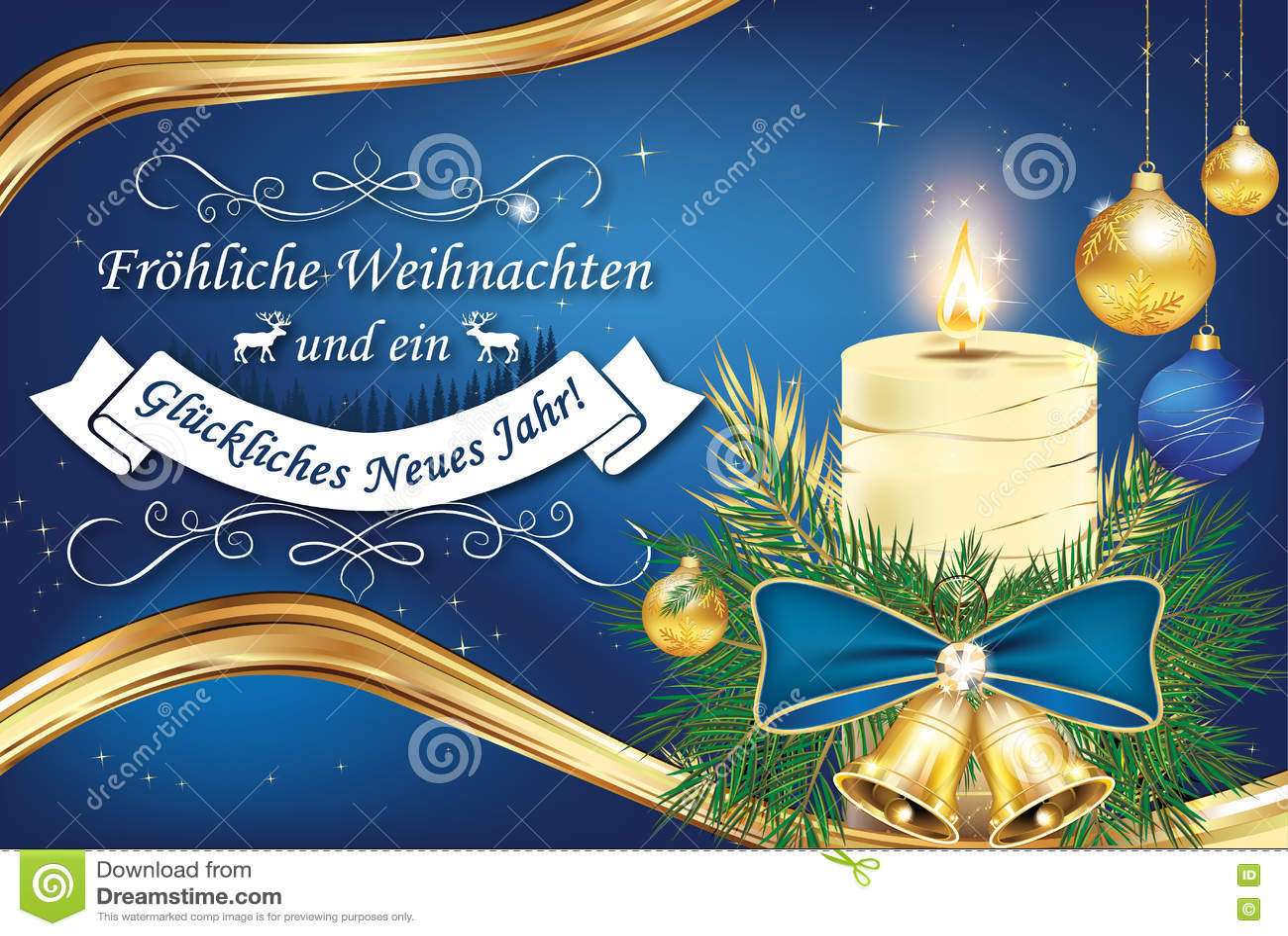 Assez Carte De Voeux D'affaires De Noël Allemand Et De Nouvelle Année  RE65