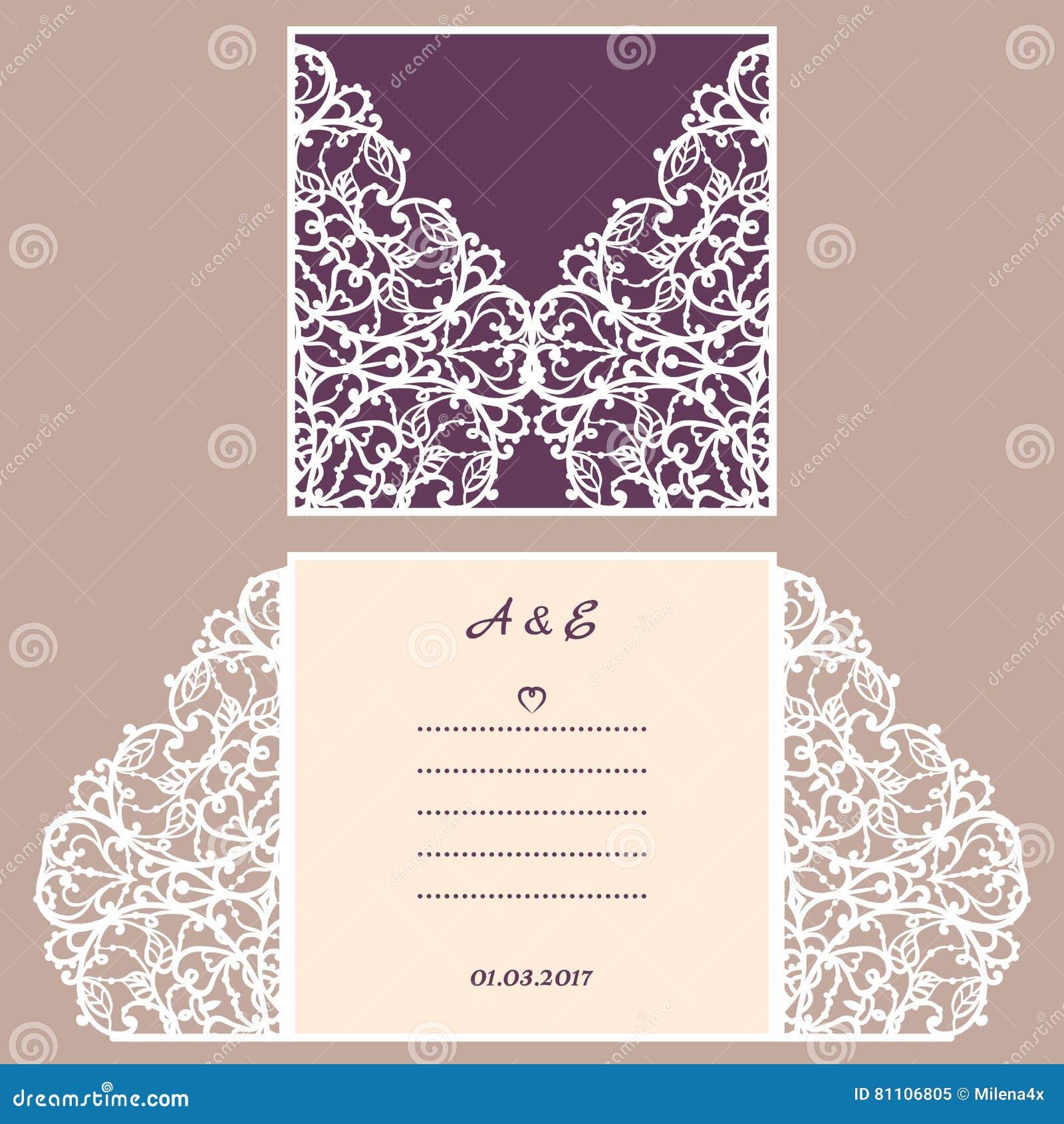 Carte de voeux d 39 invitation ou de mariage avec l 39 ornement abstrait calibre d 39 enveloppe de - Coupe pour mariage invite ...