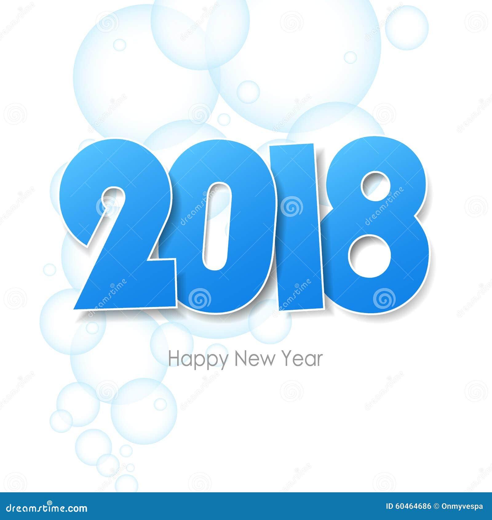 Top Carte De Voeux 2018 De Bonne Année Illustration Stock - Image  EA55