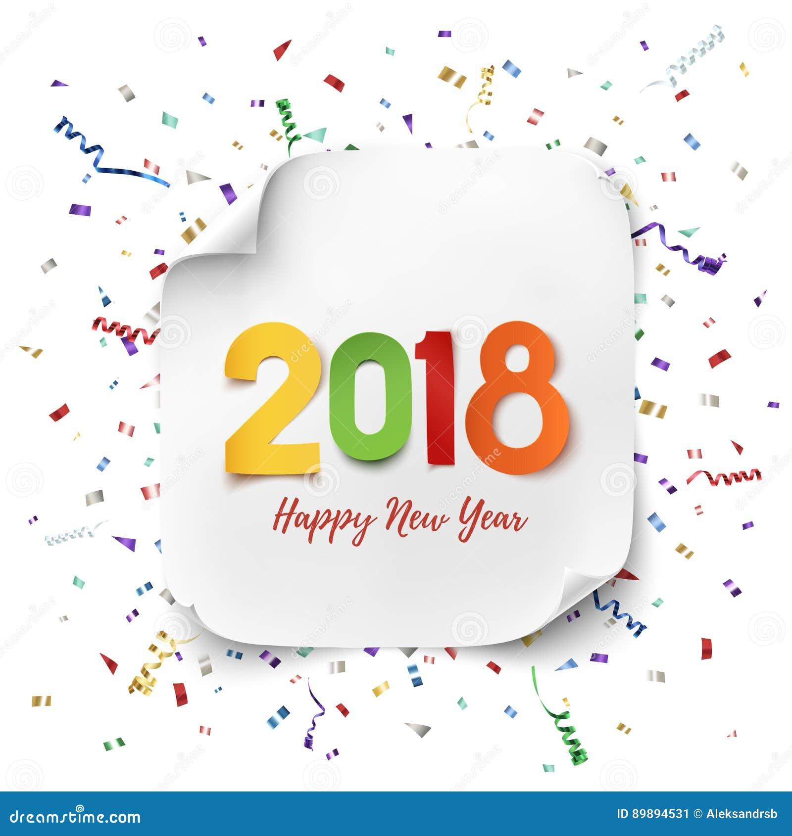 Top Carte De Voeux 2018 De Bonne Année Illustration de Vecteur - Image  EA55
