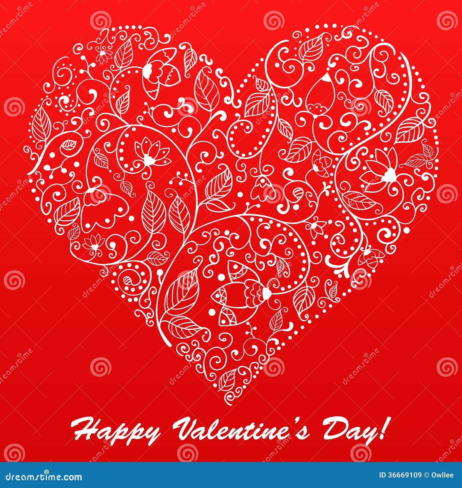 Carte de voeux de dentelle de coeur de saint valentin de - Saint valentin image coeur ...