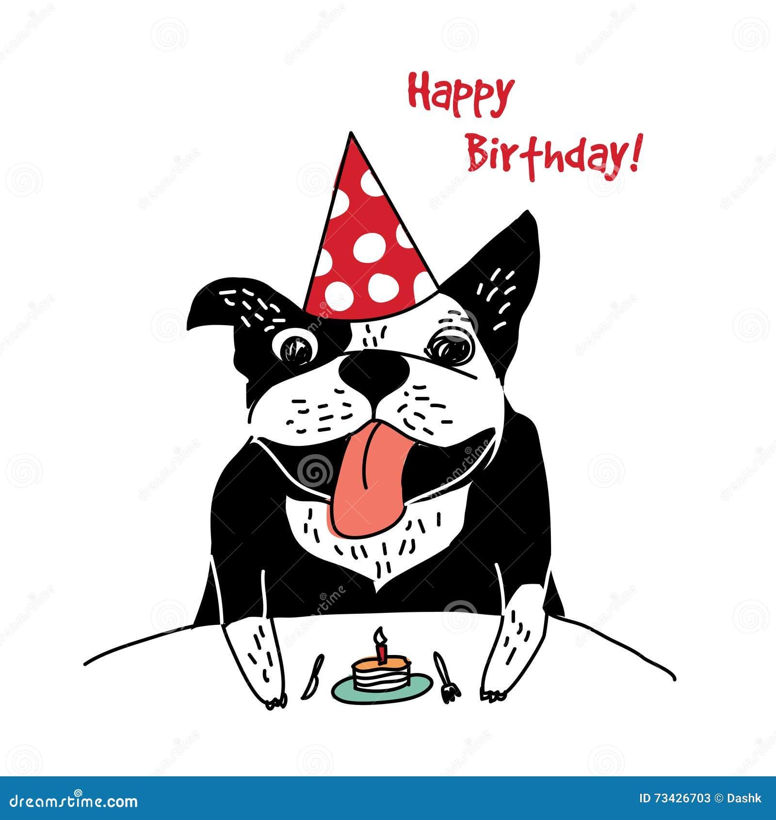 joyeux anniversaire chien bouledogue francais