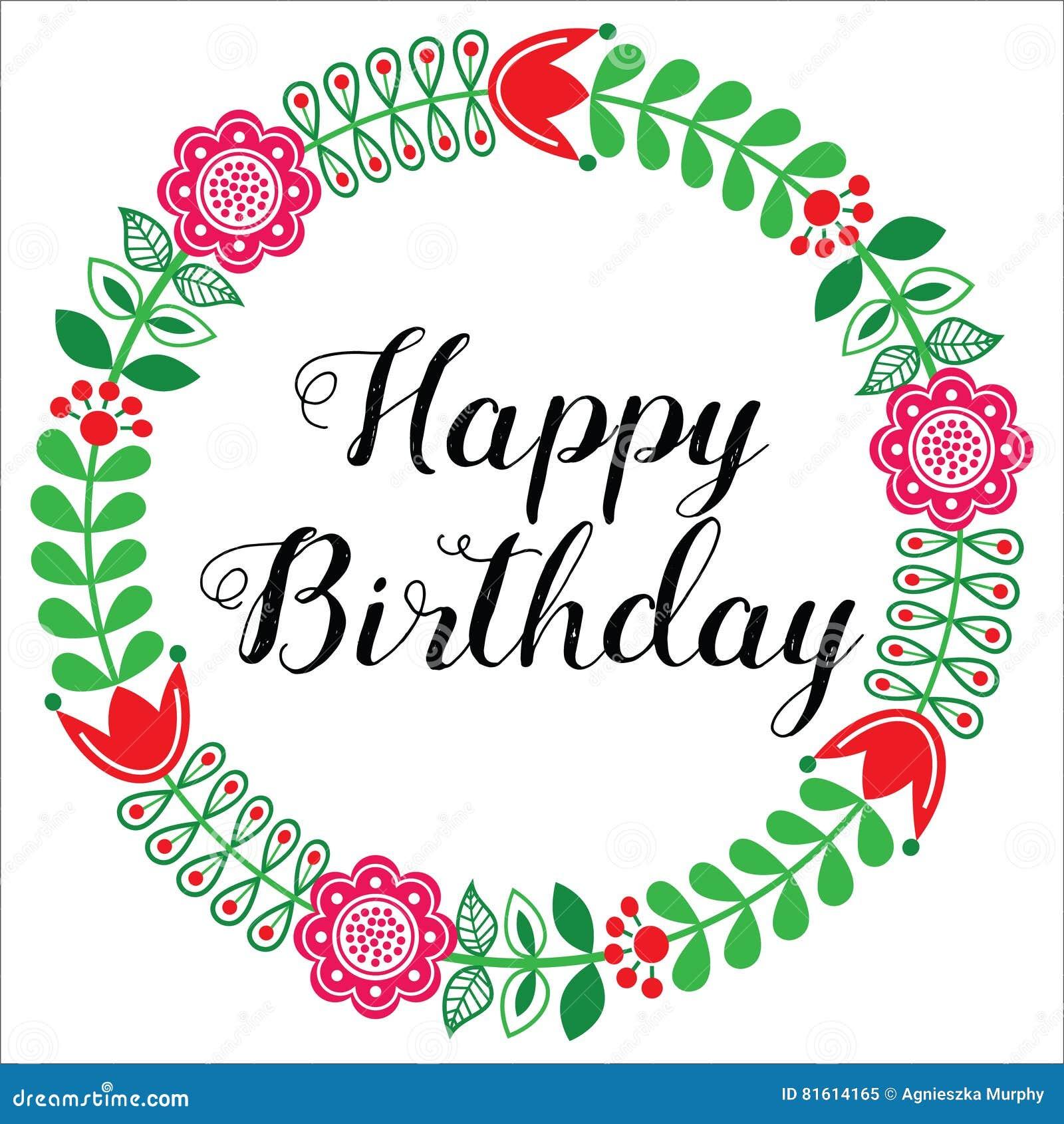 Carte de voeux de joyeux anniversaire style scandinave d - Mandala anniversaire ...