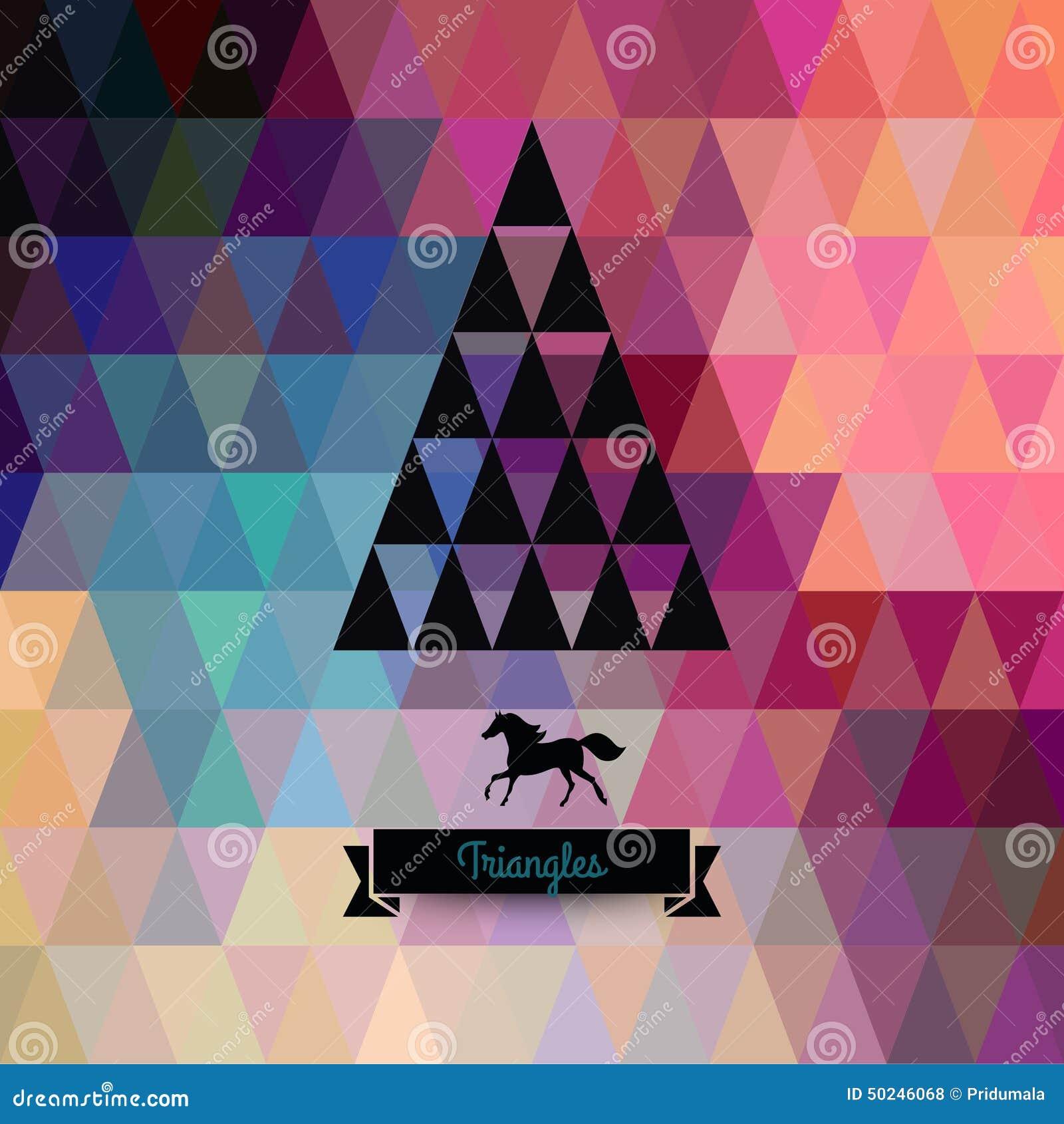 Ma Carte De Noel.Carte De Voeux De Noël De Vecteur Triangles Noël Ma Version