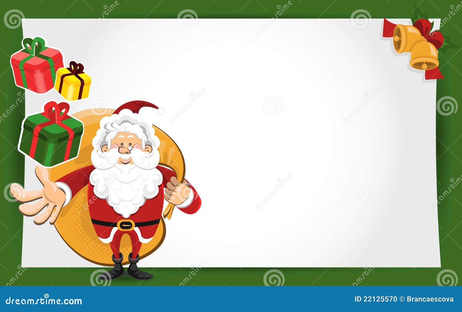 Carte De Voeux De Noël Du Père Noël Illustration de Vecteur