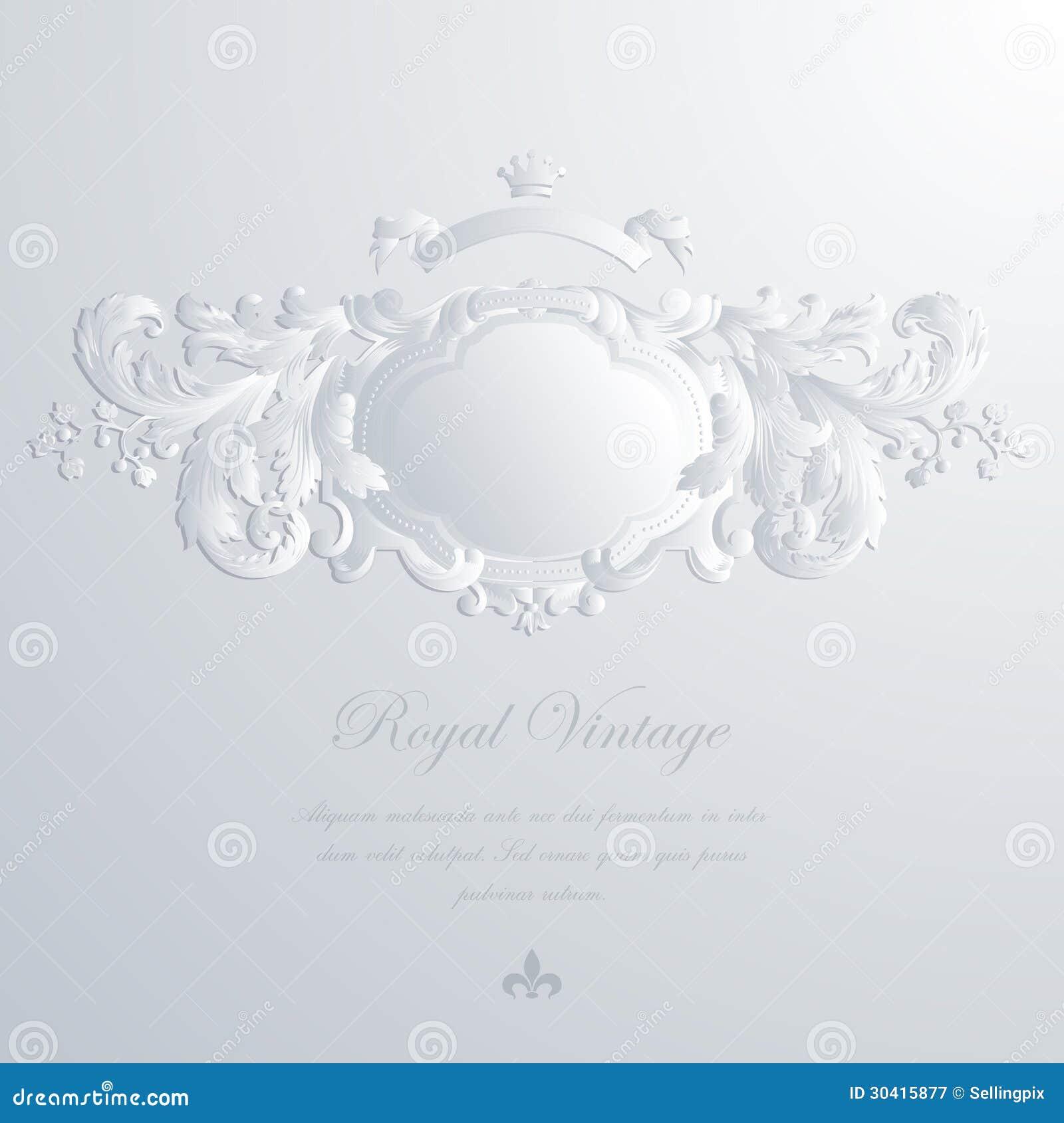 Carte de voeux de vintage et invitation élégantes de mariage