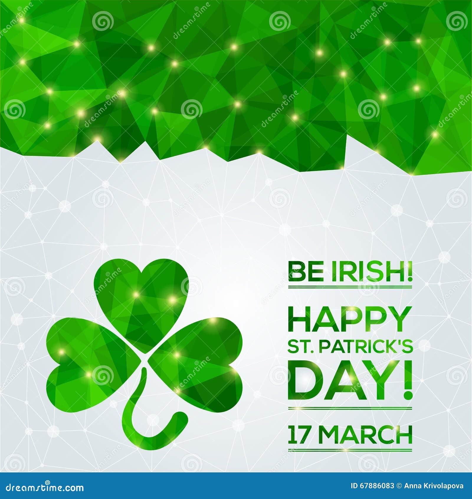 Carte de voeux du jour de St Patrick heureux