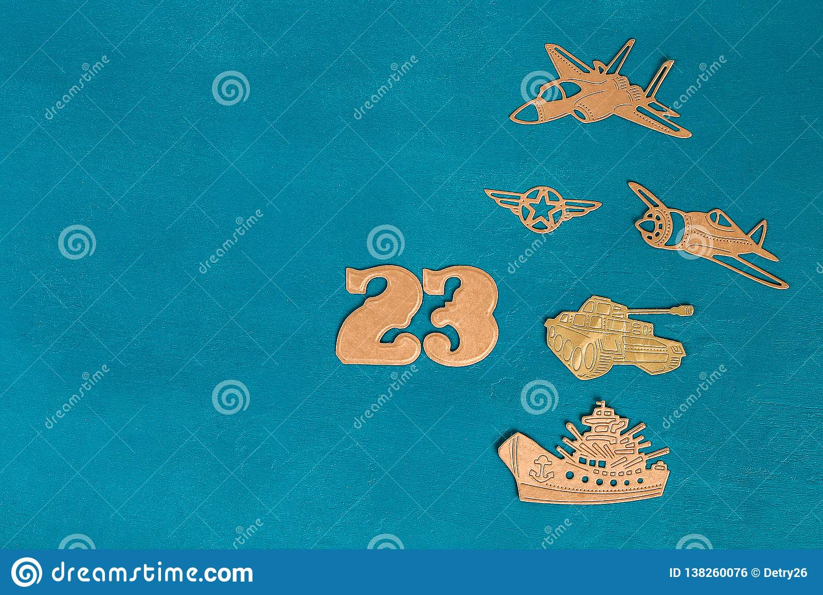 Carte de voeux en date du 23 février Hélicoptère militaire, avion, réservoir, bateau