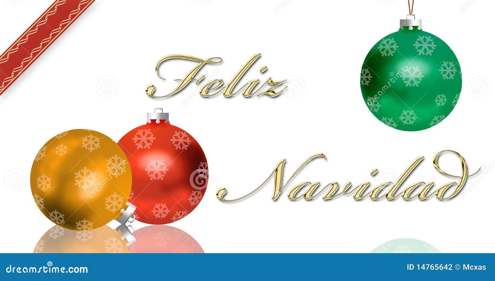 Carte De Voeux Espagnole De Noel Illustration Stock Illustration