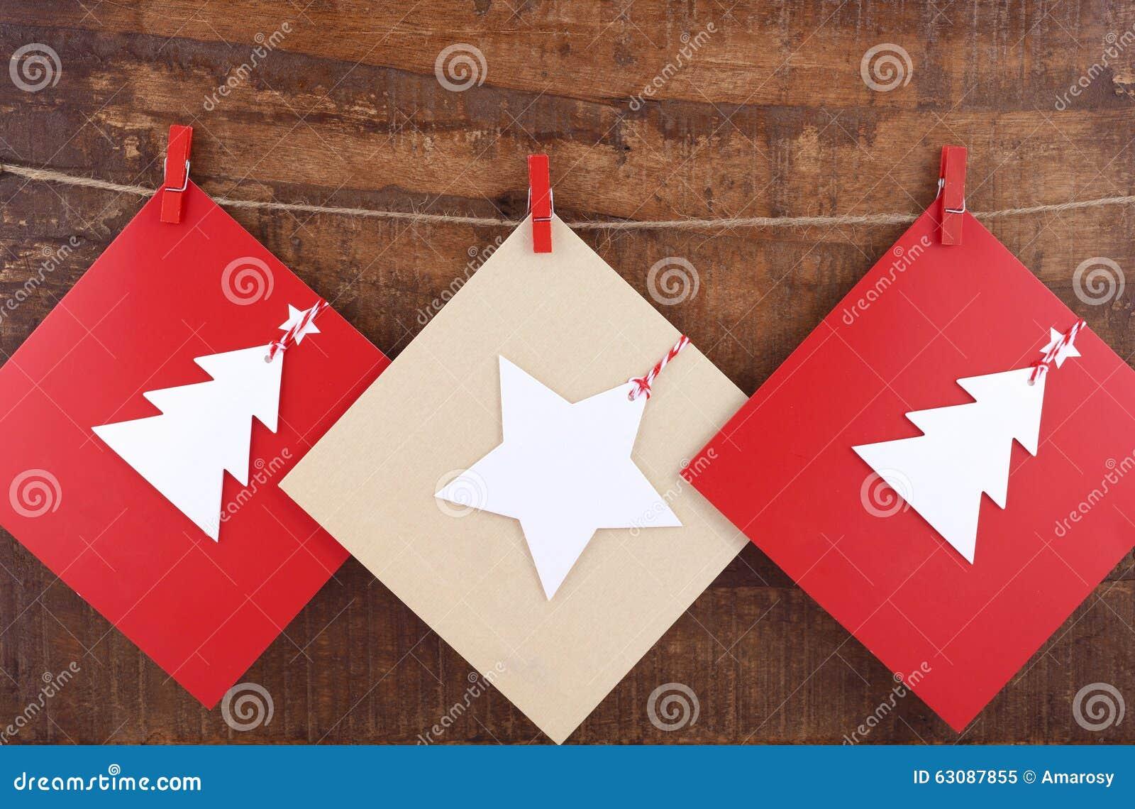 Download Carte De Voeux Faite Main De Noël Image stock - Image du célébration, foncé: 63087855