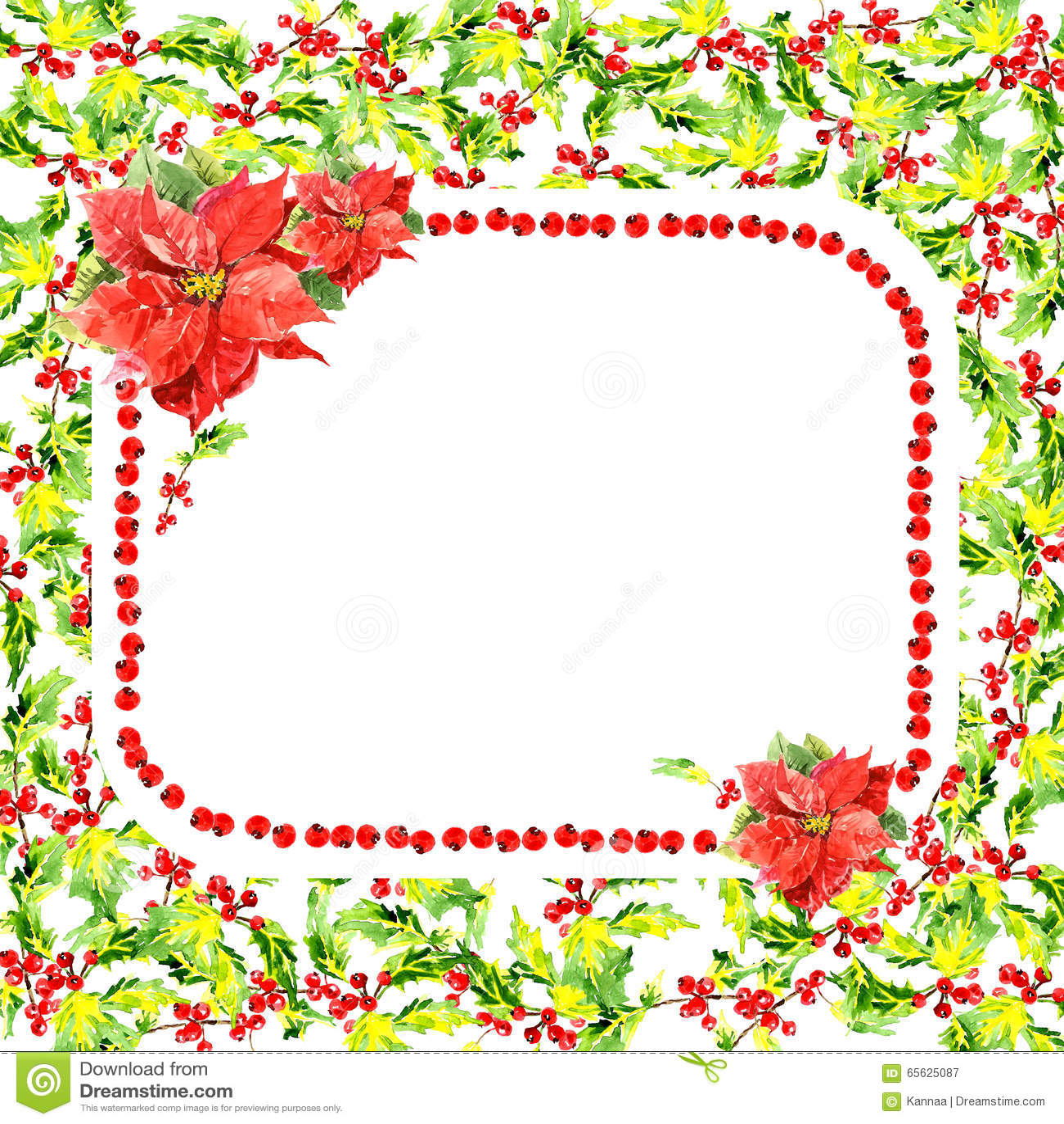Carte de voeux florale d aquarelle sur le fond blanc