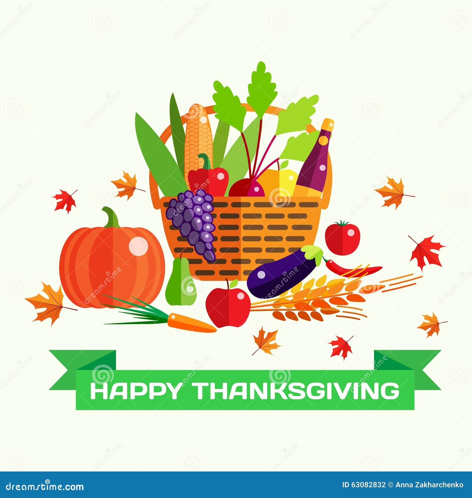 Download Carte De Voeux Heureuse De Vecteur De Jour De Thanksgiving Avec Illustration de Vecteur - Illustration du poire, ferme: 63082832