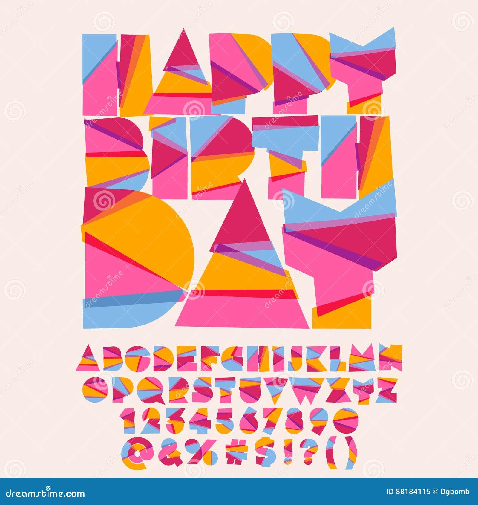Carte De Voeux Moderne De Joyeux Anniversaire Illustration De
