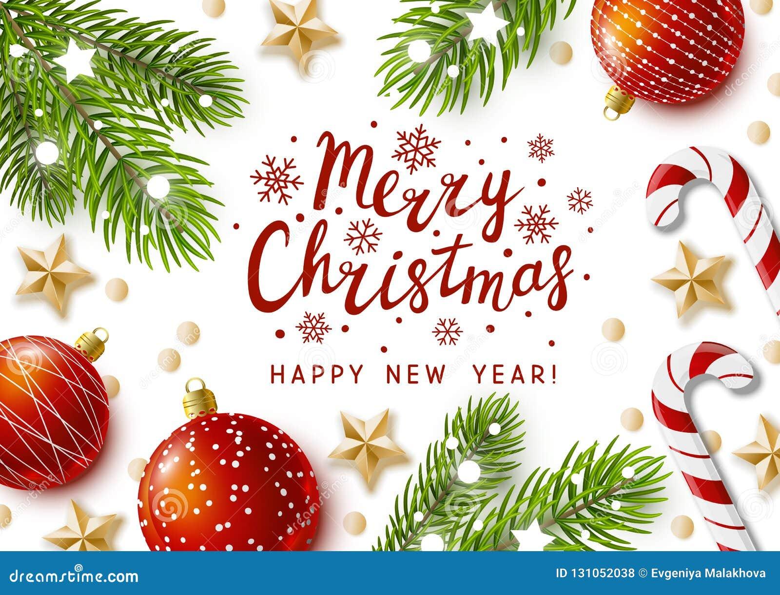 Carte De Voeux De Noël Avec Le Décor De Vacances Illustration de