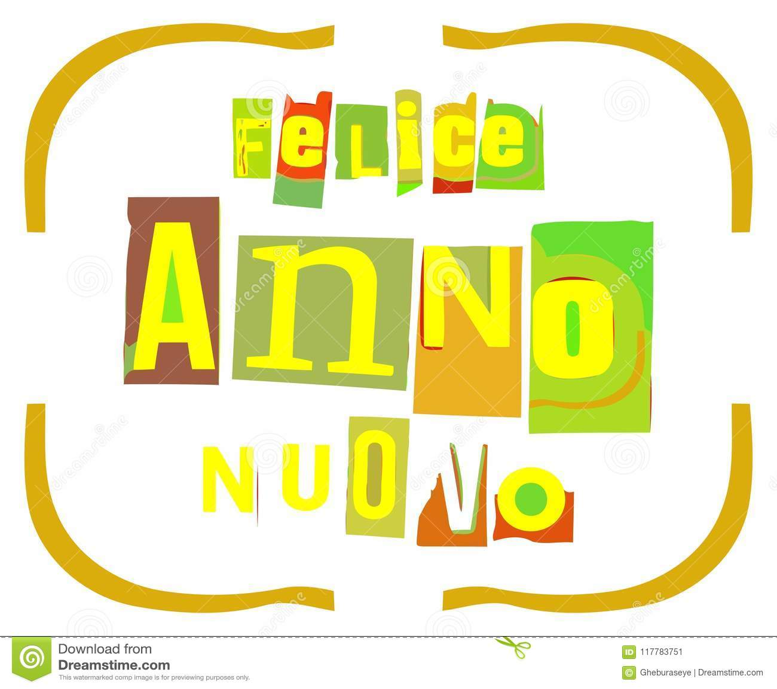 Carte Bonne Fete En Italien.Carte De Voeux Originale Coloree De Bonne Annee En Italien