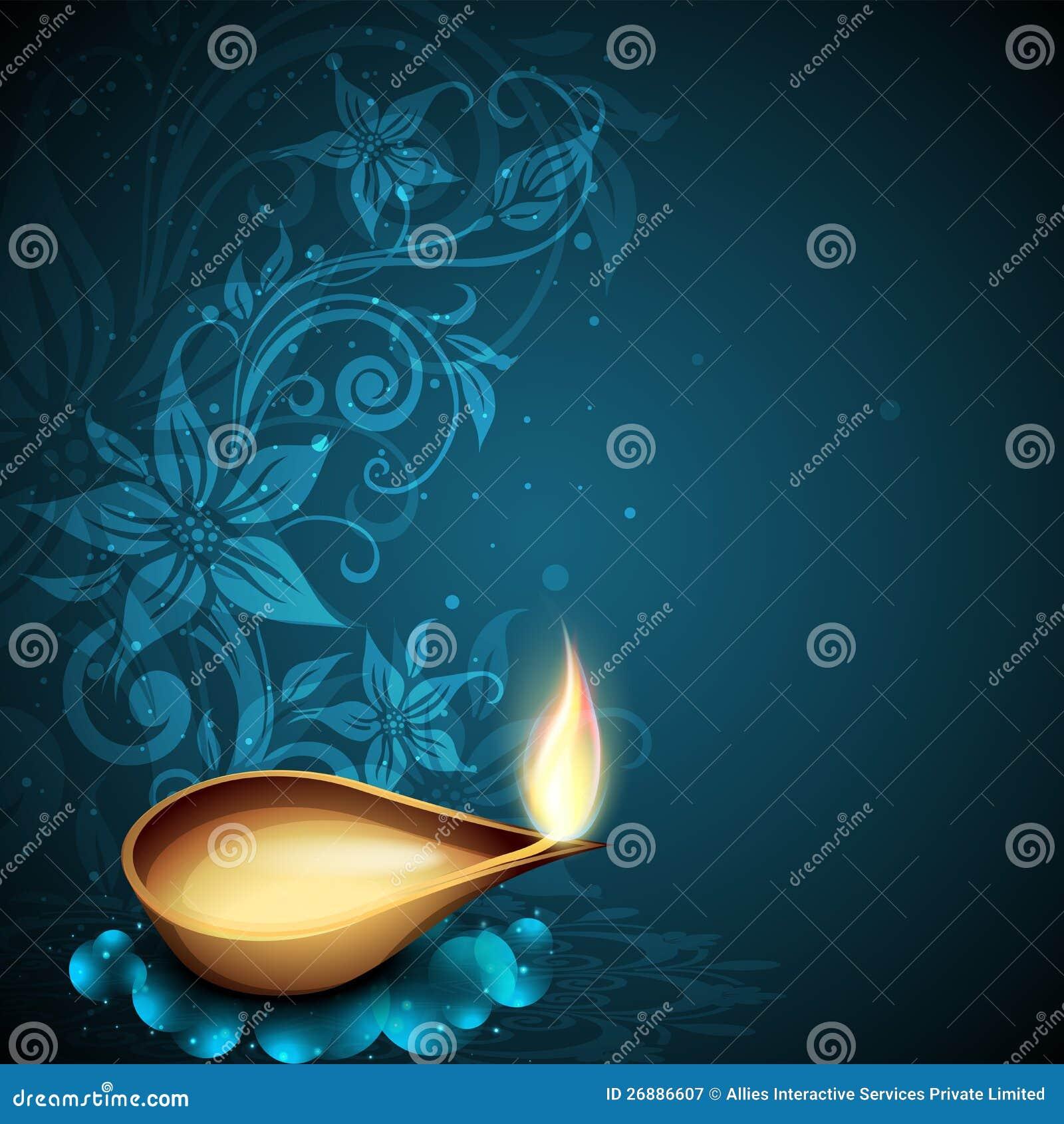 Carte De Voeux Pour La Clbration De Diwali Illustration De Vecteur