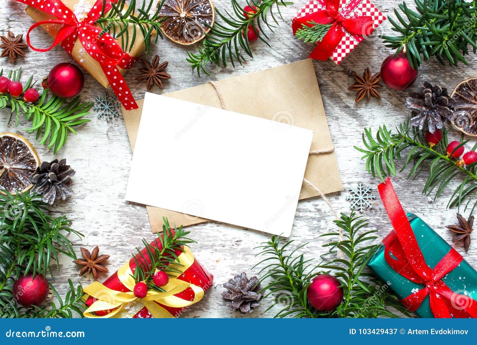 Carte De Voeux Vierge De Noël Dans Le Cadre Des Branches
