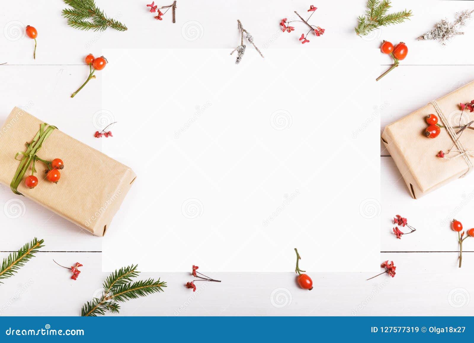 Carte De Voeux Vierge De Noël Dans Le Cadre Des Branches De