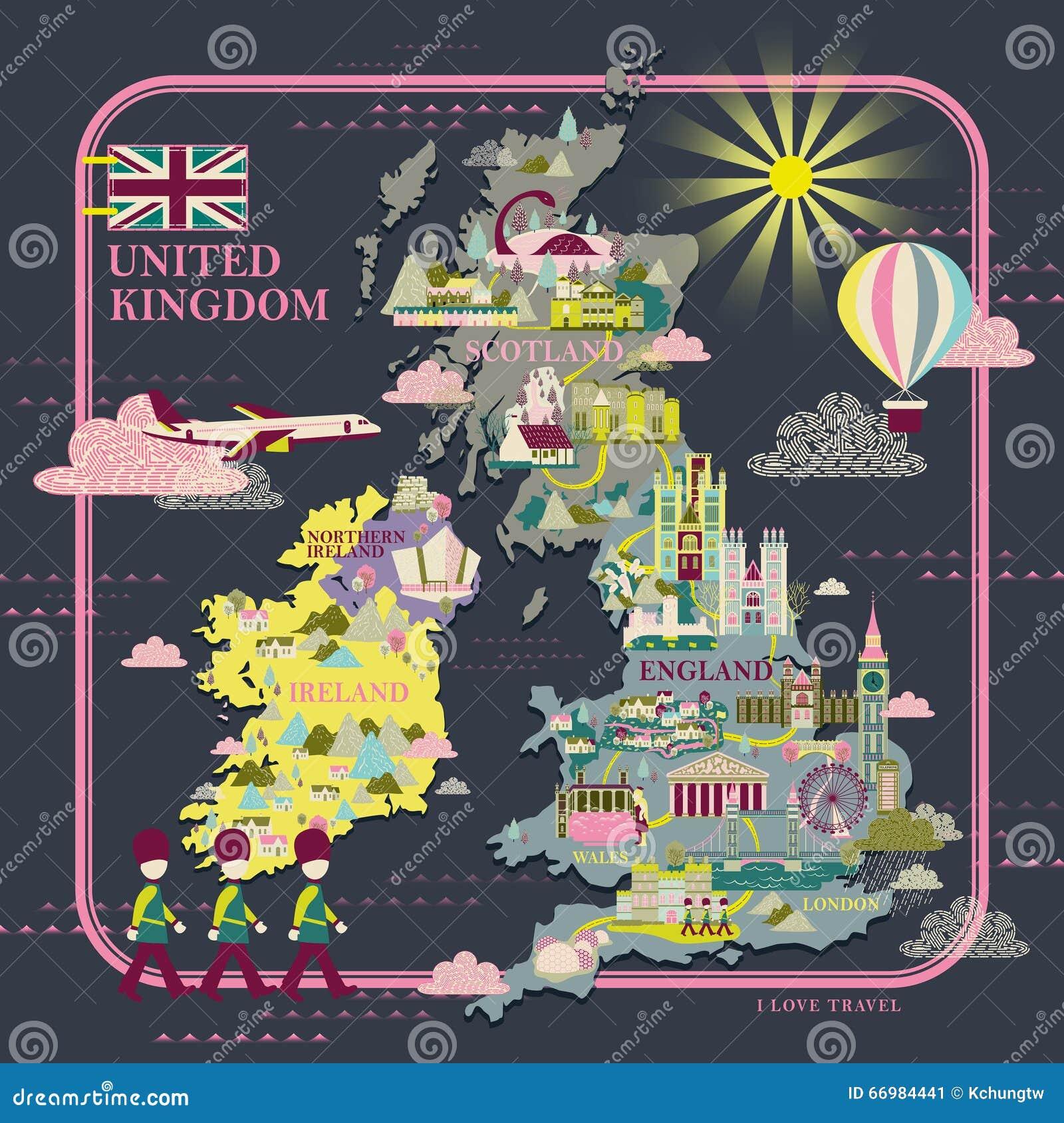 Carte de voyage du Royaume-Uni