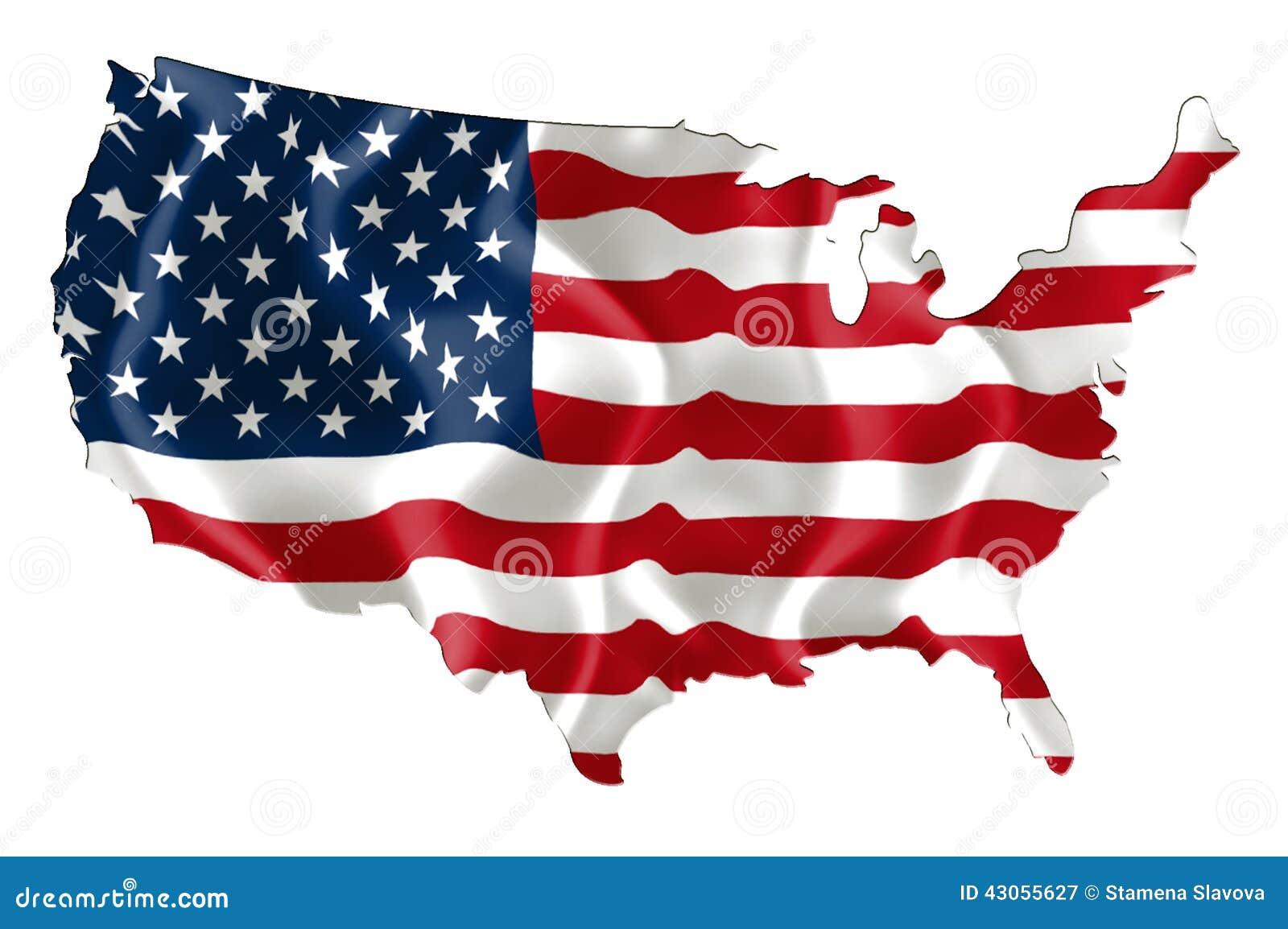 Carte Des Etats Unis Avec Le Drapeau Illustration Stock  : carte des etats unis avec le drapeau 43055627 from fr.dreamstime.com size 1300 x 955 jpeg 106kB