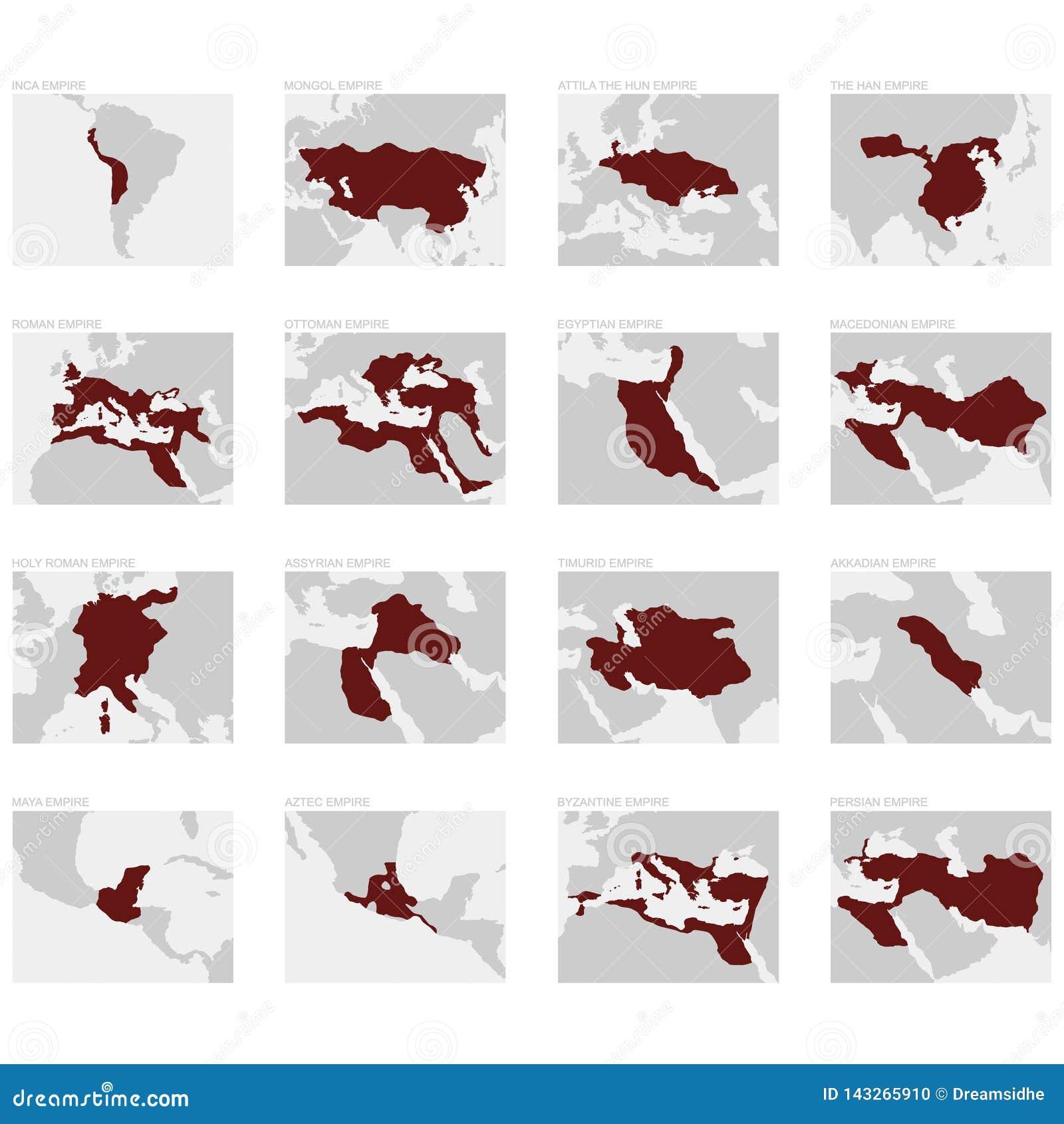 Carte des plus grands empires du monde