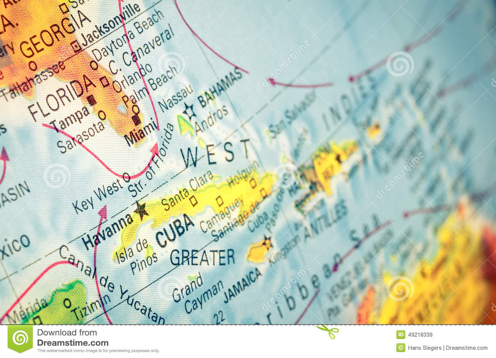 Carte Cuba Et Floride.Carte Du Cuba Et De La Floride Billet De Banque Remodele